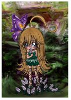 Chibi Girl and Flowers by MellissaAF