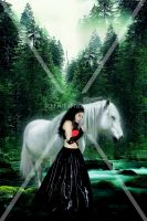 Romina and the horse 2012 by lartist-retouche