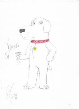 Brian Griffin in my style by WolfShepsky