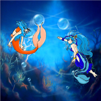 Queen and Princess of the sea. by SoniaBane