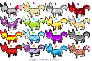 Fox Special Adopts Set 1 by ChaoticCinder