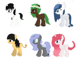 Song Inspired Pony Adopts CLOSED (Cheap) 8 by acervine