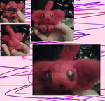 Red felty kitten by Willowstirpe