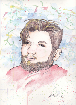Watercolor Portrait-Michael by Tugglebee