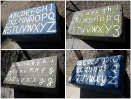 Alphabet Seats by Johnny-Aza