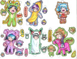 Halloween Chibi Stickers! by Zona-Light