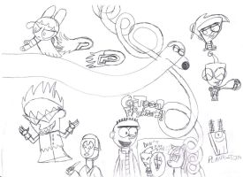 Awesome Cartoon Sketchs by SuperMaster10