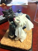 Cat cuple wedding cake topper by Niwa-Katuki