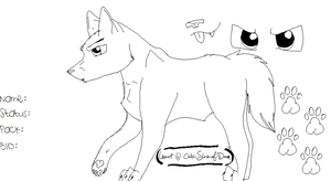 MS Paint Anime Male Wolf Ref by foxyko
