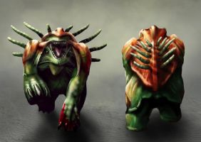 Alien Creature. Front and rear by OrjanHamre