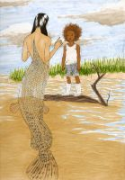 Hushpuppy and the mermaid by MommaCabbit