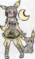 Lolita Umbreon Gijinka by Urahana
