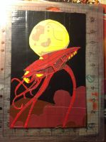 War of The Worlds Canvas by Brutechieftan