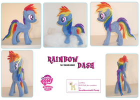 Rainbow Dash - leathercraft by anthropochick