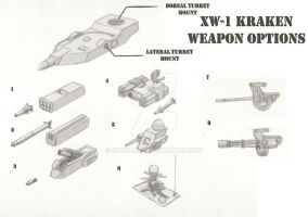 XW-1 Kraken Weapon Options by cthelmax