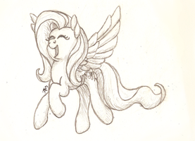 Fluttershy Sketch by ThatAsianMike