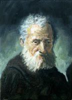 Bust of an Old Man - After Rembrandt by FrankHeilerArt