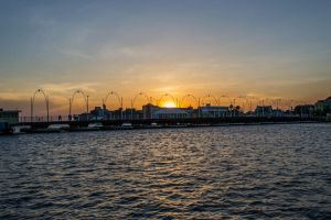 Willemstad - Sunset at Punda. by ssabbath