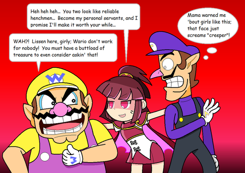 Wario, Waluigi, and... Warle?! by JBX9001