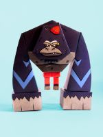 Paper Toy Gorilla by Saddast