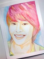 Lee Jinki -- SHINee fan art painting by antuyetlai