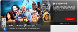 Web banner Free PSD by devzign
