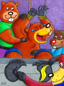 Tickle Beaver Initiation Party by WalterRingtail