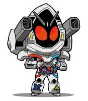 Kamen Rider Fourze Magnet States by JoelRCarroll