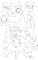 Random Adventure Time Doodles by Bitter-Cherry