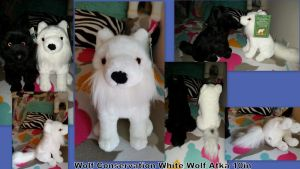 Wolf Conservation White Wolf Atka 10in by Vesperwolfy87