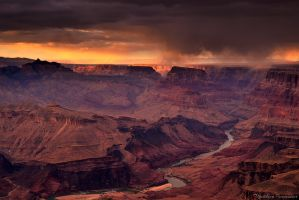 A storm at sunset by matthieu-parmentier