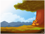 Lonely Background Practice by pichu90