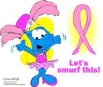 Pink Ribbon Smurfette by NewportMuse