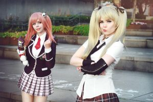 Marie Rose and Honoka Cosplay - Pout! by TineMarieRiis