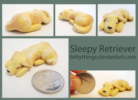 Sleepy Retriever - SOLD by Bittythings