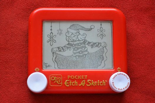 Ugly Christmas Sweater Etch A Sketch by pikajane