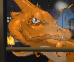 Pokekaki Charizard by Gumbogamer