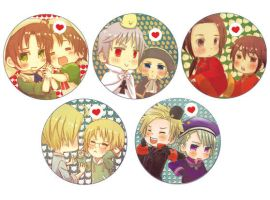 APH: Bros Badges by niku-niku