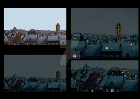 Bad Boy film - background - night by Claire-Lacaes