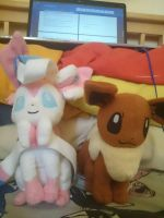 Sylveon and Eevee by MLPquang20-c