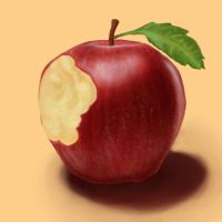 Painting Exercise - Apple by Julie-Tr