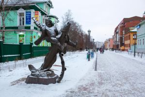 Monument of Russian man by olgaFI