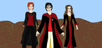 Harry Potter, Ron Weasley, and Hermione Granger -  by Emeraldlily1982