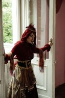 STOCK - Steampunk in Red by Apsara-Art