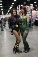 Poison Ivy and Black Canary Cosplay by madizzlee