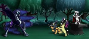 MLP: This is my Nightmare night by Fynjy-87