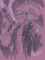 HELLBOY MARKER SKETCH by JoeyVazquez