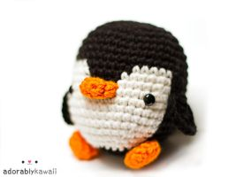Black and white penguin amigurumi by adorablykawaii