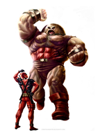 Juggernaut and Deadpool by MOROTEO56