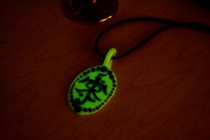 Tolkien Symbol Necklace (glowing) by AmbitiousArtisan